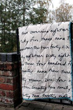chevron quilt, backing ikea fabric