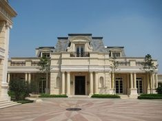 This stunning French Chateau inspired mega mansion was designed by Pavel Ivanov Architects and is located in Indonesia (1st time we've featured a home from this country)! Description from homesoftherich.net. I searched for this on bing.com/images