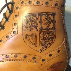 Tattoo on Brogue Boots