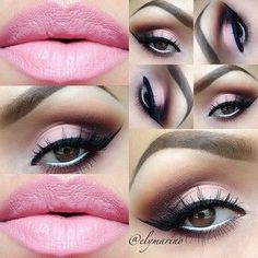 Makeup love. Pink lips