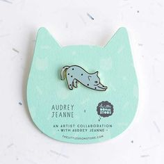 Our latest collab series features French illustrator & Cat Lover – Audrey Jeanne! 5 different cat brooch designs available! http://shop.thelittledromstore.com/category/brooches