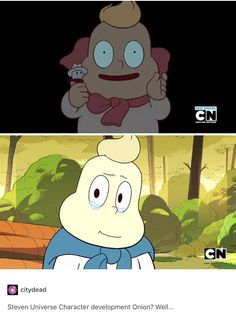 I think Onion's development is proof of Steven's; Onion isn't necessarily changing, we're just getting to know him better.