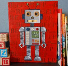 I want my next boy to have a robot room...so cute!