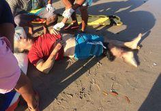 Trasladan a turista en estado crítico por ataque de cocodrilo