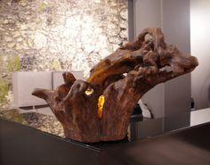 Driftwood decorations Treibholz lamp sculpture Driftwood
