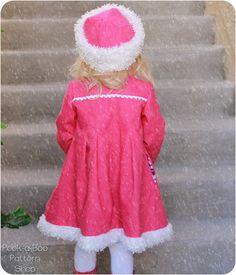 Victoria Fur Trim Dress Coat Girls Coat PDF by PeekabooPatternShop flower girls!