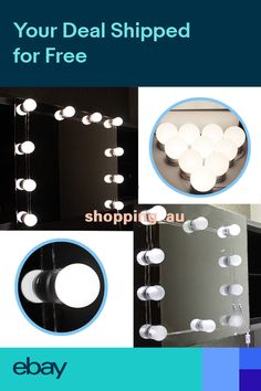Led Makeup Vanity Light Dressing Table Hollywood Mirror Cosmetic 6 10 14 Bulbs 12v Stepless Dimmable Led Wall Lamp Decoration Packing Of Nominated Brand Led Indoor Wall Lamps