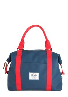 Places to Be Bag by Herschel Supply Co. - Blue, Red, Solid, Pockets, Work, Scholastic/Collegiate