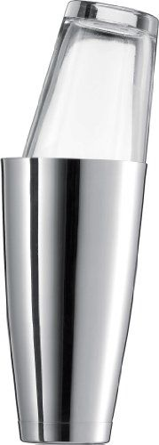 """$29.99-$34.99 Schott Zwiesel Basic Bar Selection by Charles Schumann Boston Shaker, 28.7 Ounce - Charles Schumann, proprietor of Munich's legendary Schumann's bar and author of the international classic """"American Bar"""", first published in 1984, has set standards for decades.  The basic bar selection line consists of tried and tested classics for the bar and also offers, with regard to its interpl ..."""
