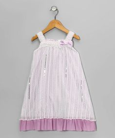 #zulily  #fall   Take a look at this Lilac Bow Dress - Girls  by Blow-Out on #zulily today!