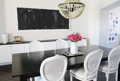 Black And White Dining Room  So Chic. Love The Crispness Of The White And