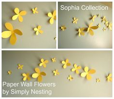 Paper Wall Flowers... Set of 13...Sophia by SimplyNesting on Etsy, $14.00
