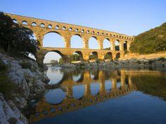 the pont du gard roman aquaduct over the gard river avignon france