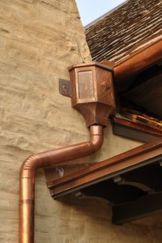 """I love exterior copper trim, gutters, light fixtures, & roofing - it lasts """"forever"""" & gets more beautiful as it ages & aquires that green patina/verdigris that copper naturally does. (Unfortunately, it is often an element greatly prized by """"not so good"""" people, so make sure your home owner's insurance will cover it's replacement if something  were to happen)."""