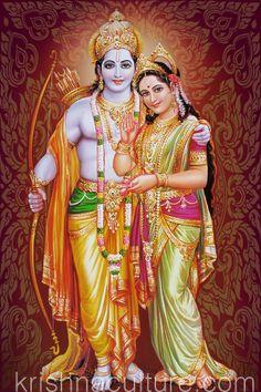 Sita Rama Canvas Art 16x24