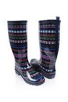 Tribal Rain Boots - StyleSays