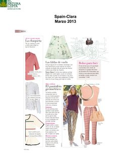 We are so happy to have our bag NA44 featured in Clara, a spanish magazine  Thank you!!