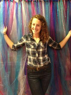 DIY: Ribbon Photo Backdrop  Miss Mel + Miss Heather