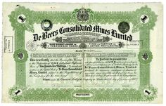 HWPH AG - Historische Wertpapiere - De Beers Consolidated Mines Limited