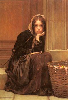 A Basket Of Ribbons - Christen Brun (1828 – 1905, Norwegian)....