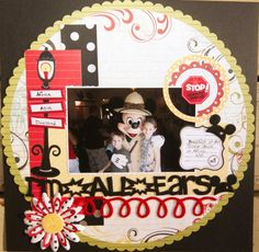 All Ears Mickey, Disney scrapbook layout http://disneyscrappers.ning.com