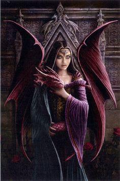 Anne Stokes, Fantasy Dragon, Dragon Art, Red Dragon, Baby Dragon, Dragon Garden, Dragon Head, Fantasy World, Dark Fantasy