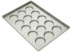 Focus Foodservice Commercial Bakeware 15 Count 4-Inch Hamburger Bun/ Muffin Top Pan by Regalware Food Service. Save 2 Off!. $48.16. Pan measures 17.6 by 25.6 by 1.13-inch; each mold measures 4.13 diameter by 1/2-inch deep. Season pan prior to first use; wipe to clean; if needed, wash with cold water, mild soap and dry immediately. Heavy duty commercial bakeware; makes 15 hamburger buns/muffin tops. Heavy reinforcing rod keeps pan from warping during baking; pans nest for efficient s...
