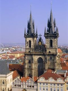 Photographic Print: Church of Our Lady Before Tyn, Old Town Square, Prague, Czech Republic, Europe by Neale Clarke : - Architecture Yosemite National Park, National Parks, Oh The Places You'll Go, Places To Visit, Prague Old Town, Church Of Our Lady, Prague Czech Republic, Old Town Square, Architecture Old