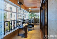 Enclosed balcony decoration design effect drawing 2016