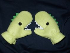 Dino mittens #tutorial