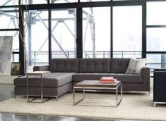Home Decor, Large And Comfortable Living Room With The Great Gus Modern Jane Bi Sectional That Look So Appropriate For Your Room With Unique Design With Small Table And White Rug ~ Furnish Your Room With The Gus Modern Jane Bi-Sectional