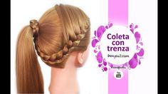 Peinados: Coletas con Trenzas de Lado Faciles y Rapidos para Niñas