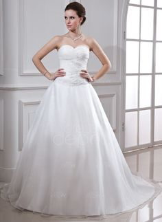 Ball-Gown Sweetheart Chapel Train Organza Satin Wedding Dress With Ruffle Beading (002001638) http://www.dressdepot.com/Ball-Gown-Sweetheart-Chapel-Train-Organza-Satin-Wedding-Dress-With-Ruffle-Beading-002001638-g1638 Wedding Dress Wedding Dresses #WeddingDress #WeddingDresses