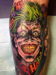 """This weeks Artist Spotlight is on Walter """"Sausage"""" Frank from Club Tattoo Las Vegas, NV. Most of you know Walter from the Spike TV series Ink Master. Ink Master Tattoos, Tattoo Ink, Arm Tattoo, Comic Tattoo, Batman Tattoo, Celtic Tattoo Symbols, Celtic Tattoos, Tatuajes New School, Face Tattoos"""