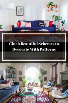 Incorporating different patterns into your decoration can be incredibly intimidating. But with a little insider knowledge we actually can mix and layer patterned decor successfully. Living Room Cabinets, Beautiful Living Rooms, Diy Home Decor, Knowledge, Decor Ideas, Decorating, Patterns, Block Prints, Consciousness