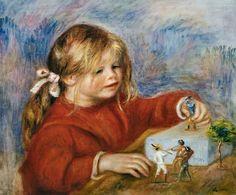 The playing Claude Renoir - Pierre-Auguste Renoir as art print or hand ...