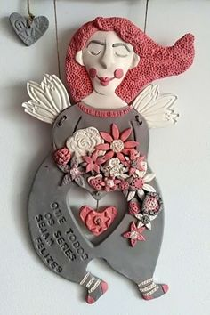 Goncalves, Air Dry Clay, Minnie Mouse, Workshop, Christmas Ornaments, Disney Characters, Holiday Decor, Art Teachers, Angels