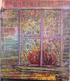 sul davanzale della finestra