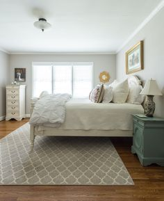 Their cozy guest bedroom. The furniture in this room has been Laura's since she was in the 6th grade.