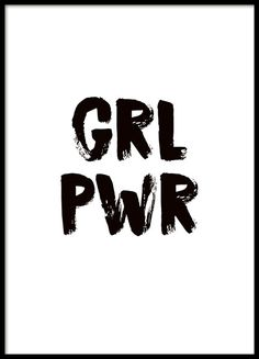 Girl power Poster in the group Prints / Sizes / 30x40cm | 12x16