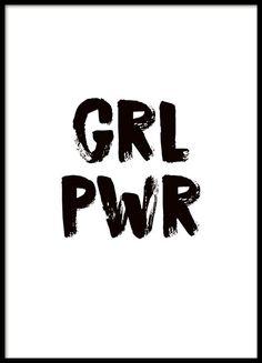 'Girl Power' poster feminino