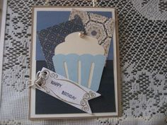 CUPCAKE cut from CTMH cricut cartridge plus there is a stamp that matches...