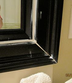 impatiently praying for patience mirror frame tutorial put molding around bathroom mirror