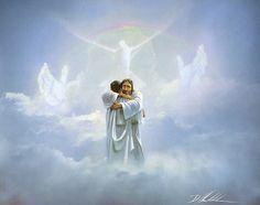 Danny Hahlbohm REUNION 8x10 print, Jesus embraces man in heaven - Welcome Home | Art, Art Prints | eBay!