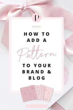 How to add a pattern to your branding and blog design