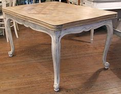 Louis XV parquet table from Versailles ceruse Rustic Table, Farmhouse Table, Paint Furniture, Furniture Design, Table And Chairs, Dining Table, Tables, Rustic Industrial, Repurposed Furniture