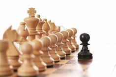 Up against all odds. This will never happen in a game of chess, but... I love the idea... love this picture