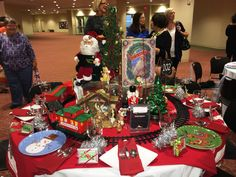 traditional Christmas Toy table from Holiday Tables 2014 Idlewild Baptist Church