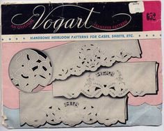 Vintage 1940s Cut Work Embroidery Transfer Patterns Set of 3