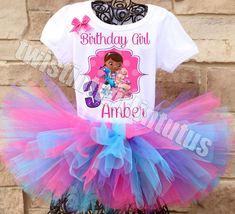 Doc McStuffins Birthday Party Ideas | Doc McStuffins Birthday Outfit | Doc McStuffins Birthday Shirt | Doc McStuffns Family Shirts | Birthday Party Ideas for Girls | Twistin Twirlin Tutus #birthdaypartyideas #docmcstuffinsbirthday http://www.twistintwirlintutus.com/products/doc-mcstuffins-birthday-outfit-2